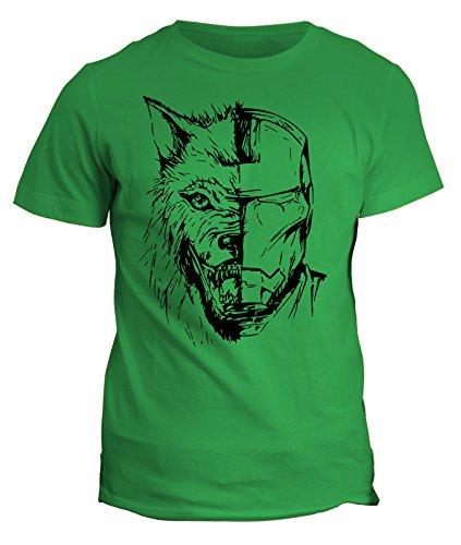 Tshirt Iron Man - Wolf Stark Jon Snow - Game of Thrones - in cotone by Fashwork Verde