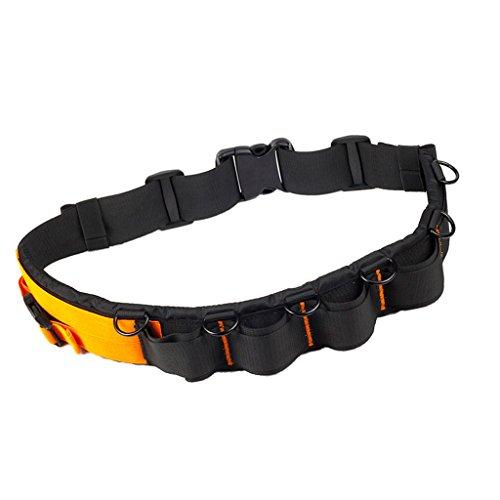 MagiDeal Mehrfunktions DSLR Kamera Gürteltasche Polsterung Hüftgurt Gürtel Objektiv Tasche 72-135cm verstellbar