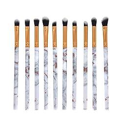 TAOtTAO 10 Stück Make-up Pinsel Set Professionelle Gesicht Lidschatten Eyeliner Foundation Blush (Weiß)