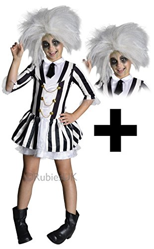 rls Fancy Dress Halloween Tim Burton Kids Childrens Costume (5-7 years) by Mega Fancy Dress (Mädchen Beetlejuice Kostüm)