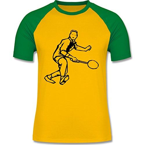 Tennis - Tennis - zweifarbiges Baseballshirt für Männer Gelb/Grün
