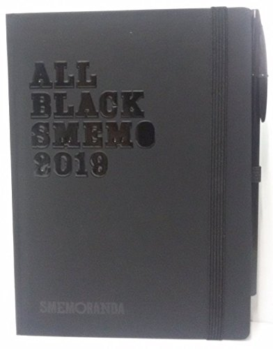 Diario agenda smemoranda all black smemo 2019 nero 12x17 giornaliera c/penna