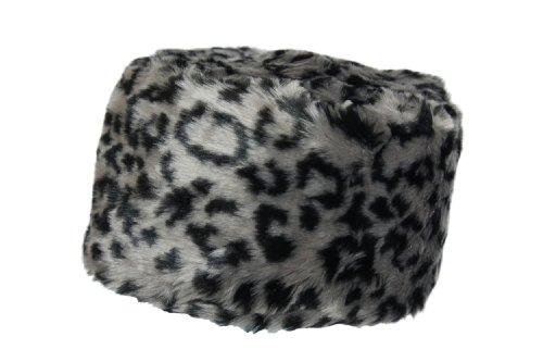 Luxury Ladies Winter Faux Fur Russian Cossack Hat Spots Grey