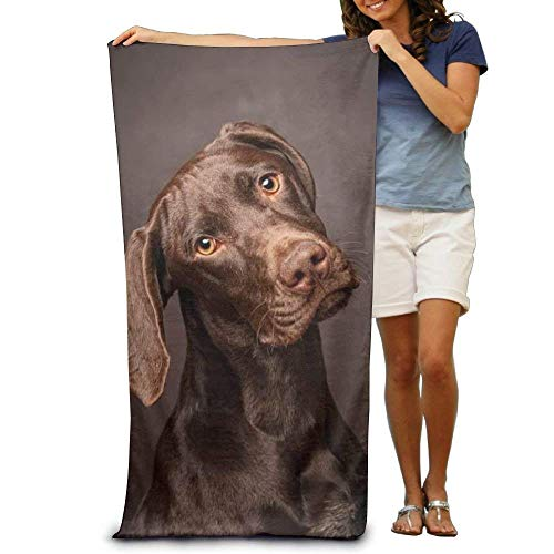Bath Towel Doberman Pinscher Dog Curious Thinking Patterned Soft Beach Towel 31.5 X 51 Inch Towel Unique Design