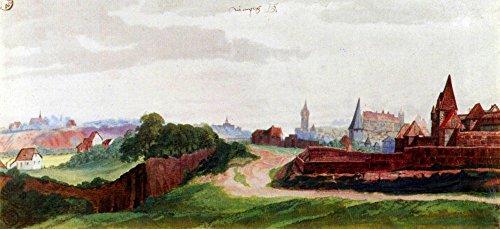 Das Museum Outlet–Nürnberg, der westlichen Teil der Stadt aus der South von Dürer, gespannte Leinwand Galerie verpackt. 147,3x 198,1cm