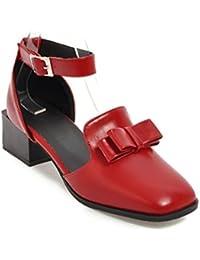 Europa, die Vereinigten Staaten im Frühjahr und Herbst große Werften Frauen Schuhe mit dem Leiter der Schule der Freizeit Sport Schuhe zu binden, Schwarz, 41
