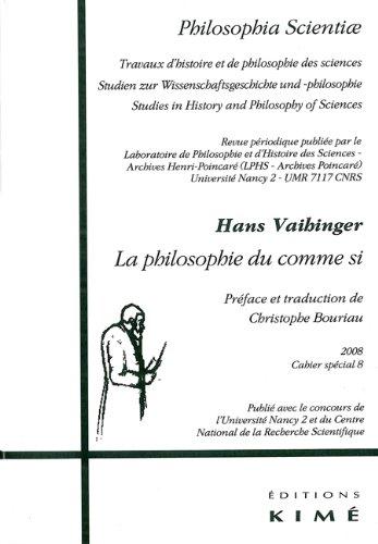 La philosophie du comme si par Hans Vaihinger