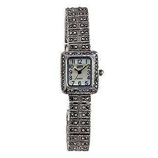 Eton señoras marcasita Reloj, MOP Dial, Acabado Antiguo–3181l