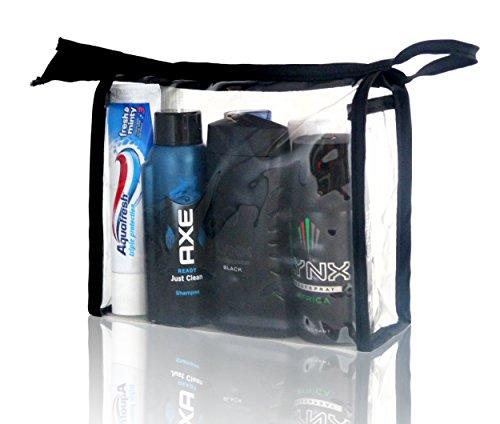 Lynx vacanza Festival Wash Bag per uomini, deodorante, Doccia, capelli, dentale, Collutorio e Igienizzante