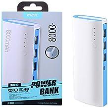POWER BANK MTK 8000mAh AZUL 3XUSB 2.1A + LINTERNA LED K3419