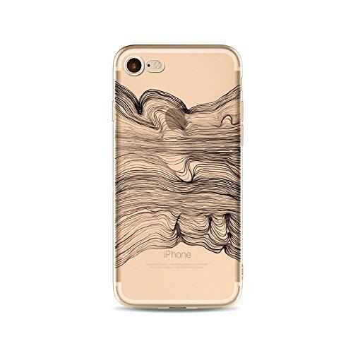 Coque iPhone 6 Plus 6s Plus Housse étui-Case Transparent Liquid Crystal en TPU Silicone Clair,Protection Ultra Mince Premium,Coque Prime pour iPhone 6 Plus 6s Plus-ligne-style 7 8