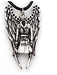 Supernatural Wings And Coat Of Castiel The Angel Metal Antique Silver Pendant Necklace For Men And Women-Demon...