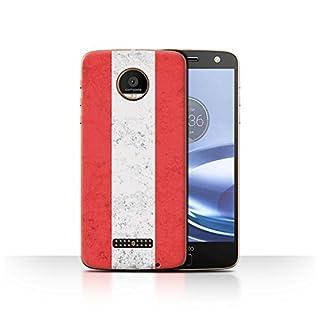 Stuff4 Phone Case for Motorola Moto Z Force/Droid Flags Austria/Austrian Design Transparent Slim Hard Cover