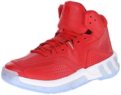 Nuovo Adidas D Howard 6 scarpa da basket nero / rosso scarlatto 6 Red/White/Red