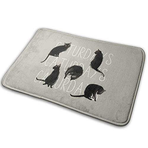 Black Cat Fußmatten Für Die Eingangstür Für Innen Außen Schuhabstreifer 15.7''X23.5'' ()