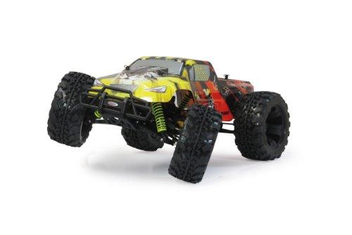 Jamara 503851 - Tiger Monstertruck 1:10 4WD NiMh 2.4GHz - Allrad, Elektroantrieb, Akku, 35Kmh, Aluchassis, spritzwasserfest, Öldruckstoßdämpfer, Kugellager, Fahrwerk einstellbar, fahrfertig - 8
