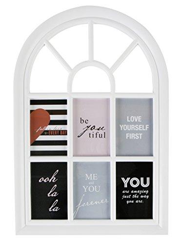 MIK funshopping Fotorahmen Fenster Weiss für 6 Bilder im 10x15cm Format