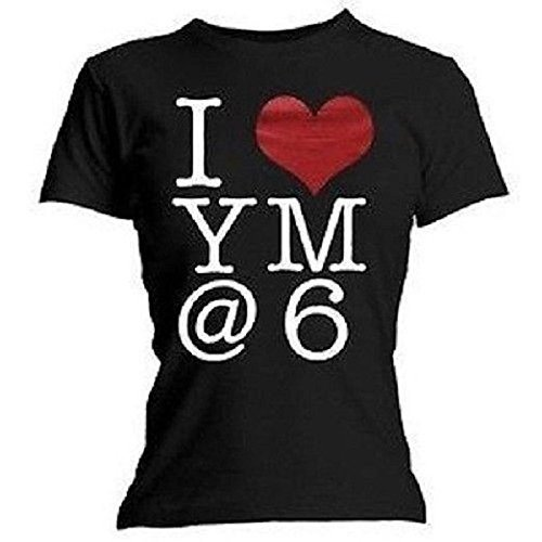 YOU ME AT SIX - I (HEART) YM@6 - T-SHIRT UFFICIALE DONNA - Nero, Large