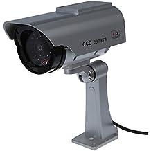 SODIAL(R) Vigilancia Grabadora Camara Solar Dummy LED Seguridad Coche Color Plata