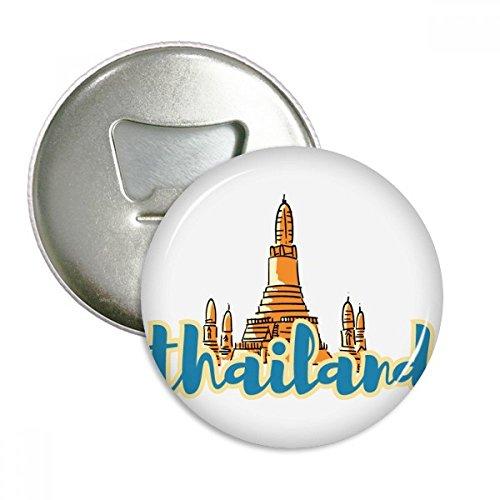 Thailand Wat Hochschule für Angewandte Wissenschaften PHA Kaeo Illustration rund Flaschenöffner Kühlschrank Magnet Pins Badge Button Geschenk 3 (Angewandte Magnete)