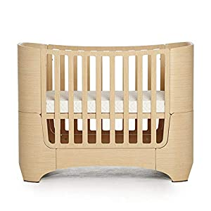 VBARV 4-in-1 baby cot, height adjustable children's play cot, multifunctional 0-12 year-old changing bed, fixed side cot, solid pine structure Children's bedroom furniture   4