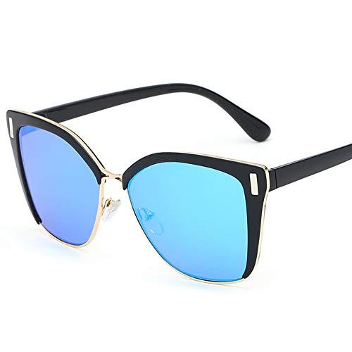 LIUYIAO Sonnenbrillen Damenmode Sonnenbrillen Square Street UV-Schutz Small Face Sonnenbrillen,Blue