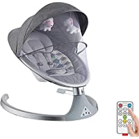 Bebé eléctrica mecedora y hamaca con mando a distancia, una cómoda mecedora música de sintonía silla, calmante de la vibración, gorila bebé, de rebote mecedora, sillas de cubierta (color: gris),Grey