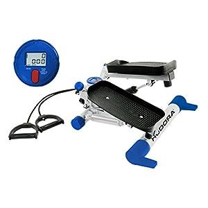 HUDORA Swing Stepper Fitness mit Expandern – 65236