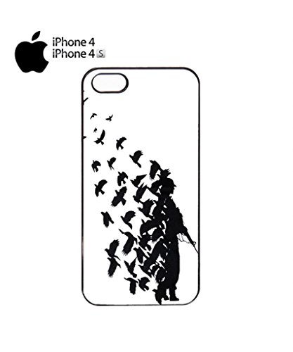 Banksy Soldier Peace Pigeons War Mobile Cell Phone Case Cover iPhone 5c White Schwarz