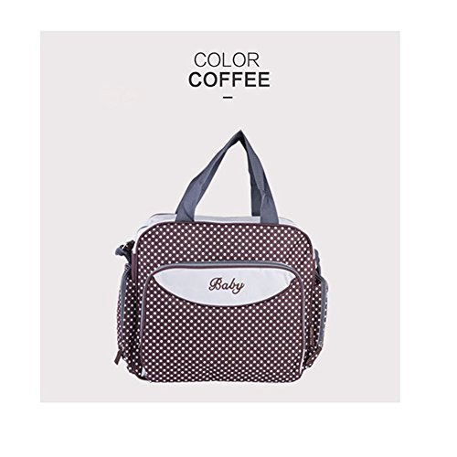 Kangming Multifunktions Dot Mummy Schultertasche Baby wickeln Tasche coffee