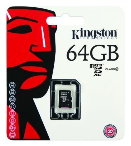Kingston Micro SDXC 64GB Class 10 UHS-I memory card
