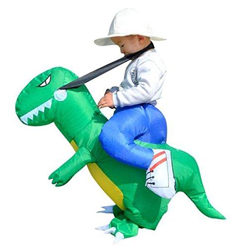 Dinosaurier Kostüme Kleinkind (MagiDeal Aufblasbar Blowup Reiten Dinosaurier Kostüm Ganzanzug Suit Outfit -)