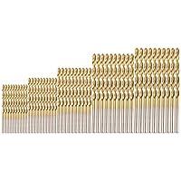 YaptheS 1set (50pcs) Profesional Taladro Set Acero de Alta Velocidad Mini-Taladro para Madera de Acero de aleación de Aluminio plástico Herramientas de jardinería (1.0-3.0mm)