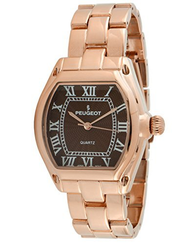 Peugeot Women's 7069RBR Rose Gold Roman Numeral Bracelet Watch
