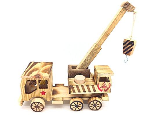 Qiandier Engineering Vehicle Car Transporter y Cars Wooden Toy Crane Juguetes clásicos