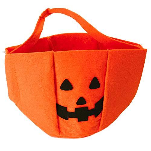 trendaffe Halloween Kürbis Korb für Süßigkeiten - Halloweenkorb Halloween-Korb