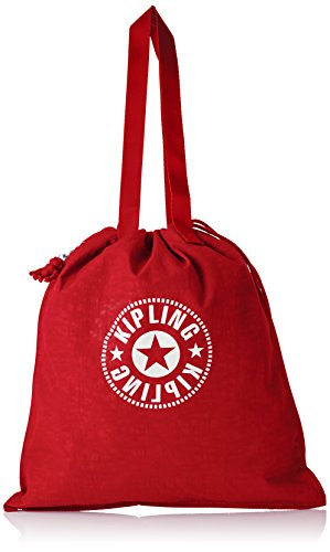 Rot Nylon Tote (Kipling Damen NEW HIPHURRAY Tote, Rot (Lively Red), 39x43x1 cm)