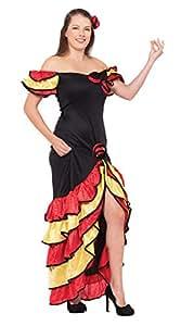 Bristol Novelty AC595 Rumba Woman Costume, UK size 10 - 14
