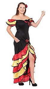 Xmas - Disfraz de sevillana para mujer, talla UK 10-14 (AC595)