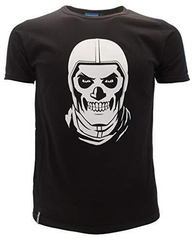 Epic Games Fortnite Skull Trooper - Camiseta para niño, Color Negro N