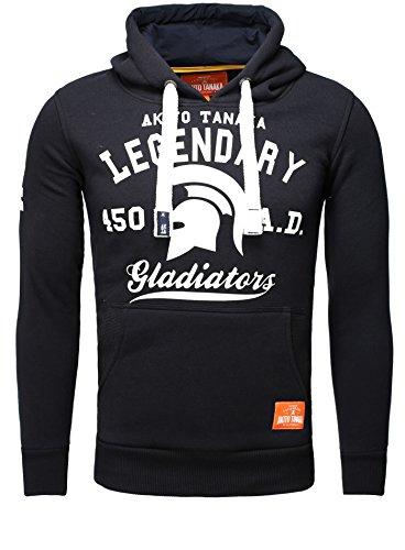 Akito Tanaka Kapuzen Pullover Kapuzenpulli Sweater Sweatshirt Hoodie Hoody Legendary SWEAT navy-weiß M