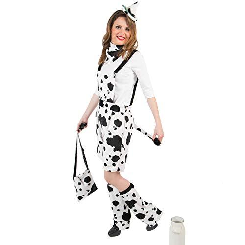 Krause & Sohn Damen Kostüm Kuh Babsi Latzhose Tier Fasching Karneval (36/38)