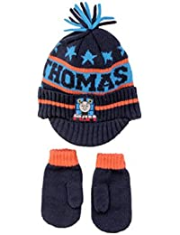 Hit Entertainment Official Licensed Boys Thomas The Tank Engine Winter Peak Hat Mittens Set Age 3-6 Years