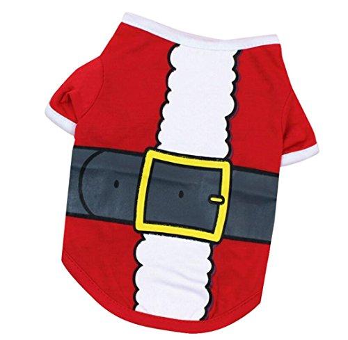 Weihnachten Hund Baumwolle T-Shirt HARRYSTORE Gürtel Gedruckt Welpe Kostüm (L, (Kostüme Hund Zombie)