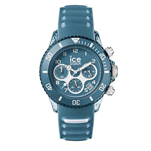 Ice-Watch - ICE aqua Bluestone - Blaue Herrenuhr mit Silikonarmband - Chrono - 001462 (Medium)