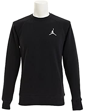 Nike FLIGHT FLEECE CREW Felpa, Uomo, black/white, XL
