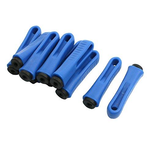 sourcingmap 10 Stück blaues rutschfeste Kunststoff Handgriff Lenker Feilegriffe de DE de - Round-hole Grips