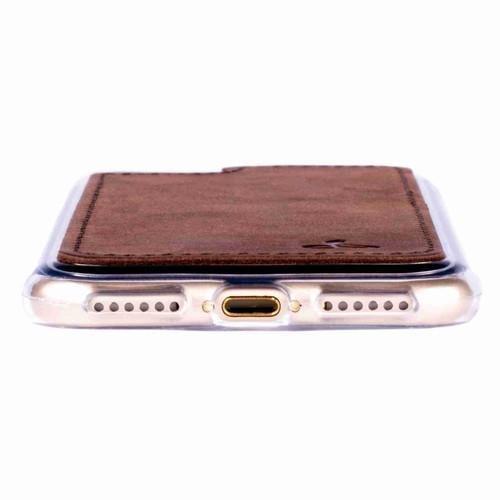 Snakehive ©Apple iPhone 8Vintage Collection Apple iPhone Case arrière en cuir Nubuck pour(Prune) Marron
