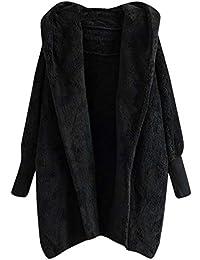 Logobeing Elegante Chaqueta de Punto de Invierno para Mujer con Capucha Tallas Grandes Bolsillos Cálido Manga Larga Sudaderas Mujer Outerwear
