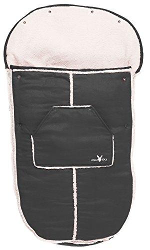 Imagen 3 de Wallaboo Manta arrullo de invierno para bebé, es ideal para cochecitos de bebé, universal Maxi Cosi, Bugaboo, Maclaren, BabyBjörn, Chicco, de 6 a 36 meses, Resistente al Viento y al Agua, Muy Práctica y ultra Suave, 100 x 48 cm,, Color: negro